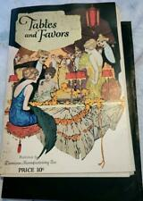 1922 Dennison Tables and Favors Illustrated Craft Booklet w Patterns Tucked In