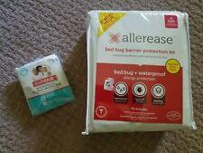 AllerEase Bed Bug/Dust Mite Allergy Mattress 2Pillow Encasemnt Wterproof Twin XL