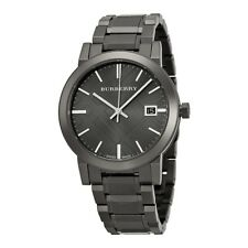 Brand New Burberry BU9007 Grey Ion-Plated Stainless Steel Men's Watch