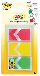 3M Post it index stickers 23.8mm x 43.2mm  682-ARR-RYG-EU