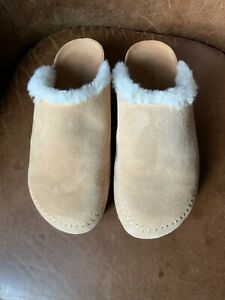 Jenni Kayne Women's Shearling-Lined Moc Clog Natural 38 Sold Out