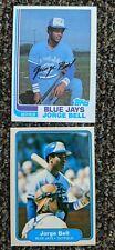 LOT 1982 Topps Jorge George Bell RC Rookie Baseball Card #254 & #609 Blue Jays