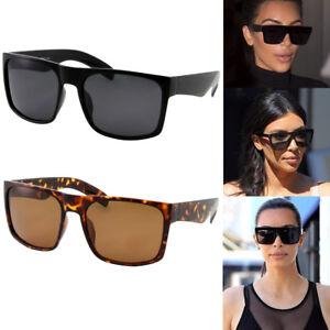 XL Large Women Kardashian Sunglasses Kim Black Fashion Top Square Design Big
