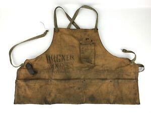 Antique Wagner Awnings Cleveland Ohio Canvas Work Apron