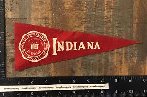 Vintage INDIANA UNIVERSITY Hoosiers College Mini Felt Pennant