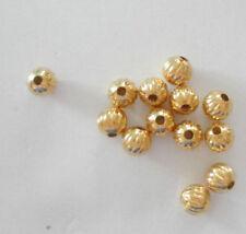 Metal Corrugated Jewellery Making Beads