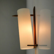 Wand Lampe LUXUS Vittsjö Schweden Uno Östen Kristiansson Teak Lese 50er Leuchte
