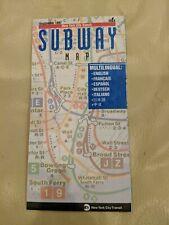 MultiLingual 1997 NYC New York City Subway Map Pocket MTA  Guide Jackie