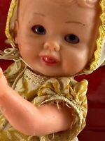 "Italian Celluloid Jointed Baby Doll 6"" Preowned Very Special Good Condition!"