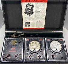 Vintage Triplett Volt Meter Set Signal Generator Ac And Dc Volt Meters Untested