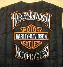 Set Kit 3 Toppe Grande Harley Davidson LOGO + BANNER Gilet Giubbotto GIACCA XL