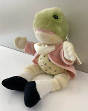 Eden Beatrix Potters Frog Mr Jeremy Fisher Plush 1986 Style with Hang Tag #30300