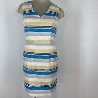 Banana republic women's dress size 4  petite striped sleeveless
