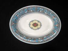 "Wedgwood Florentine Turquoise Blue 10"" Oval Vegetable Serving Bowl"