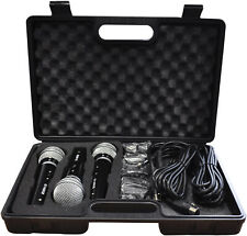 More details for soundlab 3 dynamic vocal karaoke microphone kit with carry case + 3 x 2.8m leads