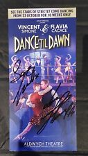 Vincent Simone Flavia Cacace autograph on Dance til Dawn Flyer(Strictly dancers)
