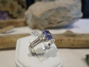 NEW Chuck Clemency STS Sterling Iolite Spinel Ring - Sz 8