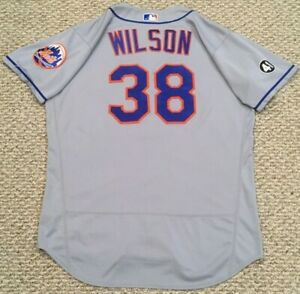 """WILSON size 48 #38 2020 New York Mets game used jersey road SEAVER """"41"""" MLB HOLO"""