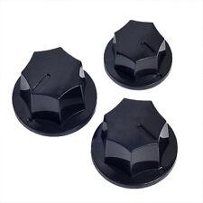 3*Guitar Knob Standard 6mm Pots Plastic For fender Jazz Bass knobs Replacement