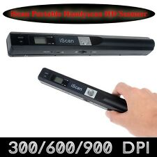 Portable iScan Wand Handheld Digital Scanner A4 900DPI Color Document Book G1