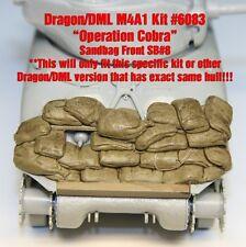 "1/35 Sherman Sandbag Front ""SB8"" Value Gear- For Dragon (Op Cobra) M4A1 Kit#6083"