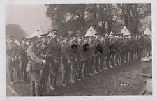 WW1 Soldier group Cheshire Regiment TF Territorials on Parade in tented Camp