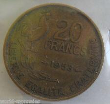 20 francs G Guiraud 1953 : TB : pièce de monnaie française