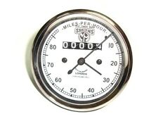 Sale Smiths Replica 0-80 Mph Speedometer White Face For Vintage BSA Models@DD