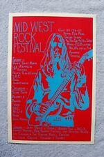 Jeff Beck Concert Poster 1969 Mid West Rock Fest Led Zeppelin Jethro Tull__