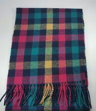 New Women Tartan Winter Scarf Plaid Wrap Checker Shawl Tassel Pink Blue Yellow
