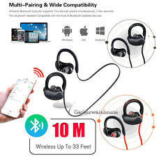 Wireless Bluetooth Headset Stereo Headphone Earphone Sport For Android LG/iPhone