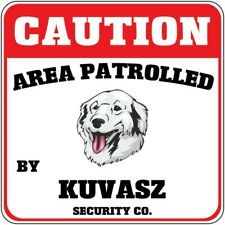 Crossing Sign Caution Area Patrolled by Kuvasz Dog Security Co Cross Xing Metal