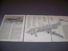 VINTAGE..FOKKER F28 FELLOWSHIP...SPECS/CUTAWAY/3-VIEWS....RARE! (749B)