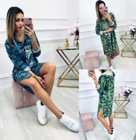 Womens Party Short Holiday UK Loose Tops Baggy trim Elastic Mini Dresses