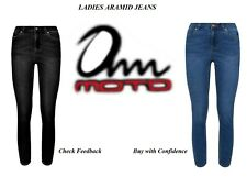 Ladies Motorcycle Jeans Motorbike Reinforced Aramid protective Lining CE Armour