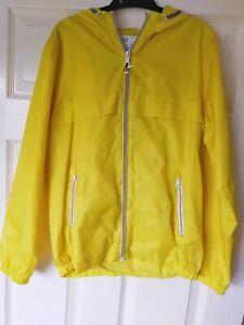 M&S Boys/Girls Yellow Shower Resistant Pack Away Rain Jacket Age 11-12 BNWT