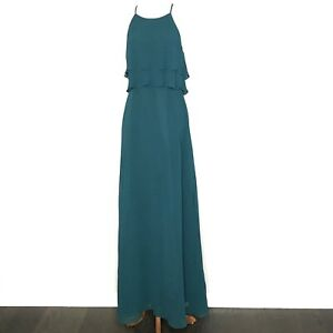 Jenny Yoo Bridesmaid Dress Womens 6 Green Wedding Formal Prom Gown Lined