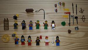 LEGO lot vintage de CHEVALIERS pour chateau 100% LEGO moyen age année 80 / 90