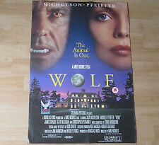 'WOLF'   FILM POSTER - PICTURE OF JACK NICHOLSON  & MICHELLE PFEIFFER