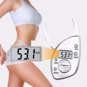 Digital Body Fat Measuring Meter Tester Percentage Weight Loss Analyser Monitor
