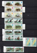 CAYES OF BELIZE STAMPS 1984 COMPLETE SET IN 9 CRABS,BIRDS,ISLAND MNH JOINED PAIR