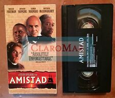 ☀️ Amistad VHS Morgan Freeman Matthew McConaughey Anthony Hopkins MINT