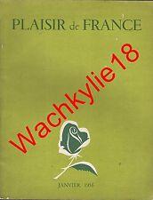 Plaisir de France n°207 du 01/1956 Décoration Alésia Ski de fond Marcel Arland