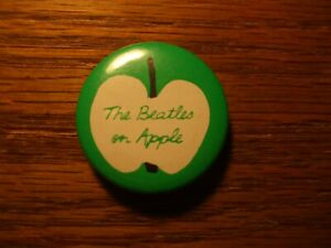 The Beatles on Apple ( Records )  pin back button from the 70's