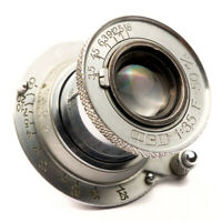 Pre-war FED Industar-10 3.5/50 Collapsible Lens USSR Leica LTM M39 Soviet Elmar
