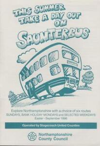 NORTHAMPTONSHIRE COUNTY COUNCIL BUS TIMETABLE LFT SAUNTERBUS 1996
