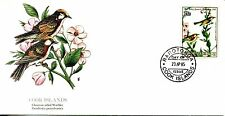 1981 COMMEMORATIVE COOK ISLANDS CHESTNUT-SIDED WARBLER CACHET & STORY UNA FDC