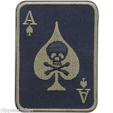 SKULL ACE OF SPADES CARDS CASINO Motorcycle Biker Rocker Iron On Patches #0553
