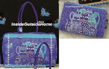 Laurel Burch Indigo Cats LARGE Travel Tote Weekend Sport Dance Tack + Makeup Bag
