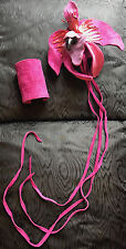 Rare ORCHID suede and snake skin PAIR OF CUFFS Runway VIVIENNE WESTWOOD 1990's